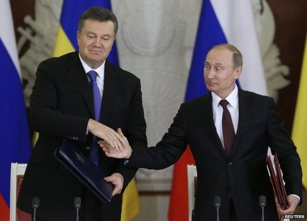 President Viktor Yanukovych and Vladimir Putin