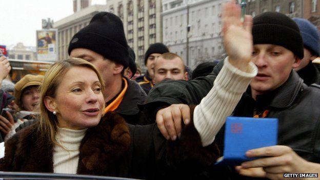 Yulia Tymoshenko in 2004