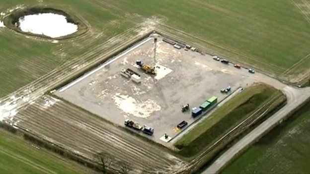 Potential fracking site