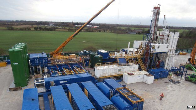 IGas exploratory drilling site in Barton Moss in Salford
