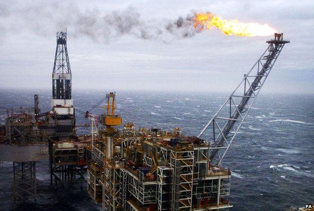 Oil platform in the North Sea