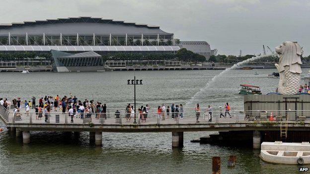 File photo: Merlion landmark in Singapore
