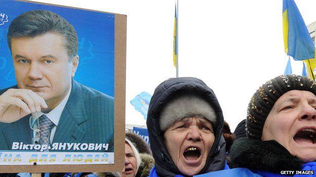 Supporters of Viktor Yanukovych Feb 2010