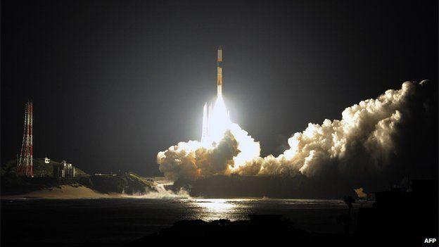 Japan rocket blasting off
