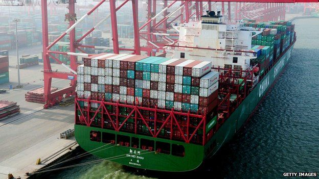 Huge Chinese container ship