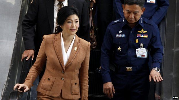 File photo of Thai Prime Minister Yingluck Shinawatra