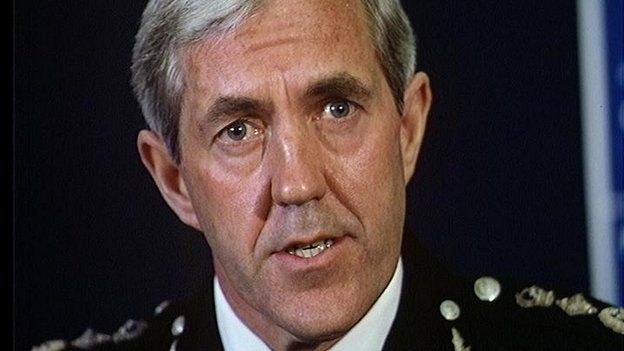 Sir Paul Condon, Chief Commissioner of the Metropolitan Police force