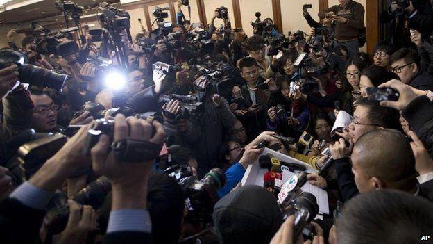 Media coverage in Beijing, 8 March