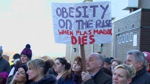 Protest Plas Madoc
