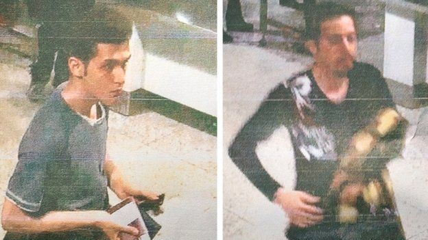 Malaysian police handout photographs of 19-year-old Iranian Pouria Nour Mohammad Mehrdad (L) and an unidentified man (R) who both boarded missing Malaysia Airlines MH370 flight using stolen passports.