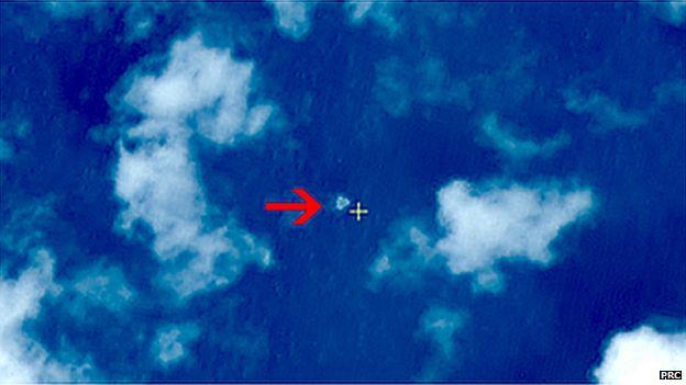 Satellite images of debris