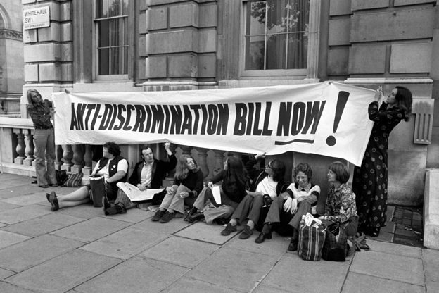 Fawcett Society protest, 1973