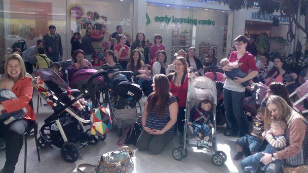 Milton Keynes breastfeeding demo