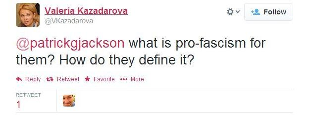 Valeria Kazadarova asks: What is pro-fascism for them? How do they define it?