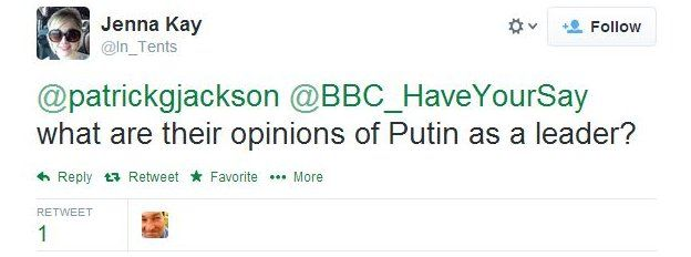 Jenna Kay asks: What are their opinions of Putin as a leader?