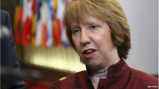 EU foreign policy chief Catherine Ashton in Brussels (17 March 2014)