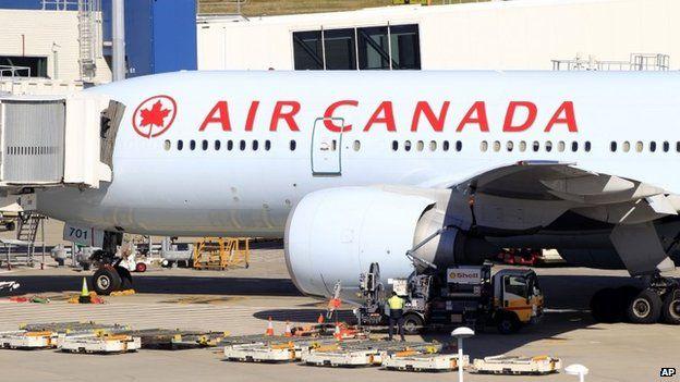 Air Canada plane in Sydney