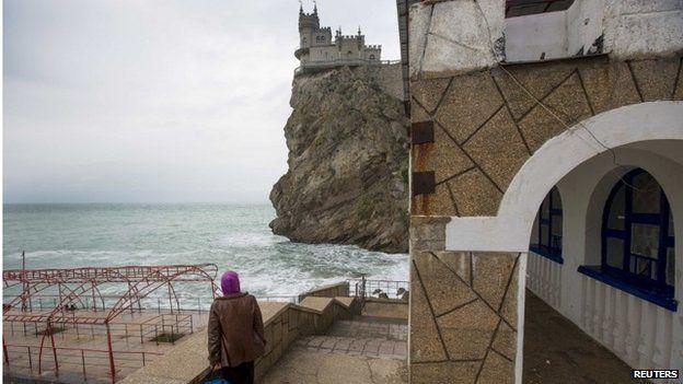 The Swallow's Nest castle in Yalta, Crimea