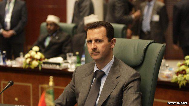 Syrian President Bashar al-Assad at an Arab League summit in Sirte, Syria (2010)