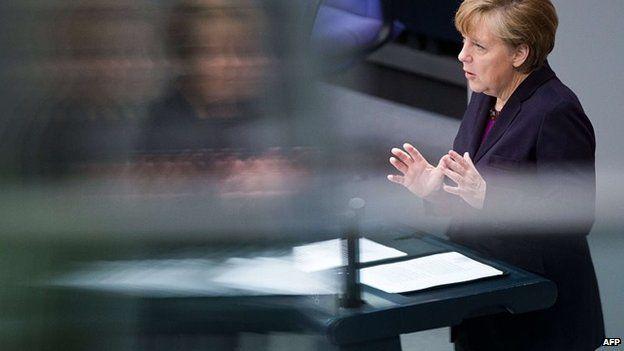 Angela Merkel speaks in Berlin (20 March 2014)