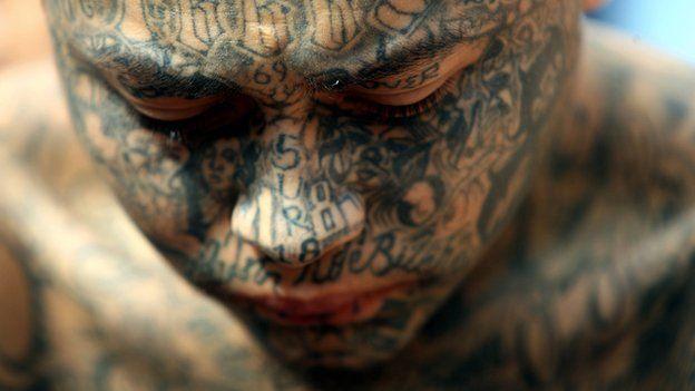 A member of the Mara 18 gang in El Salvador