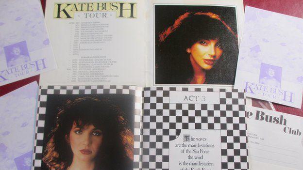 Memorabilia from Kate Bush tour in 1979