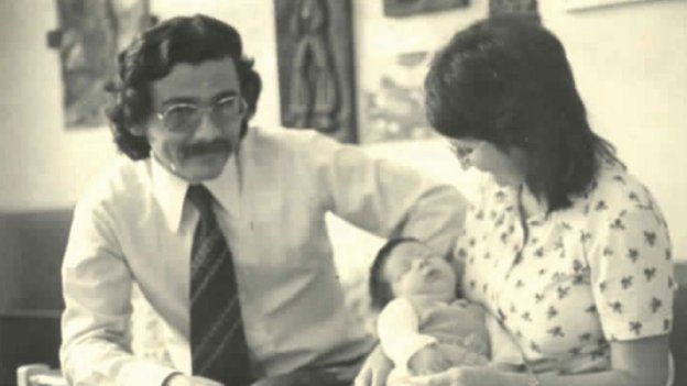 Uchoa family with newborn Marcelo in 1974