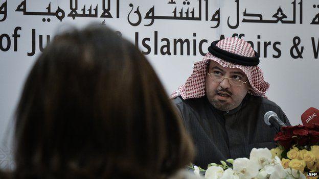 Bahrain's Justice and Islamic Affairs Minister, Sheikh Khalid bin Ali Al Khalifa (4 February 2013)