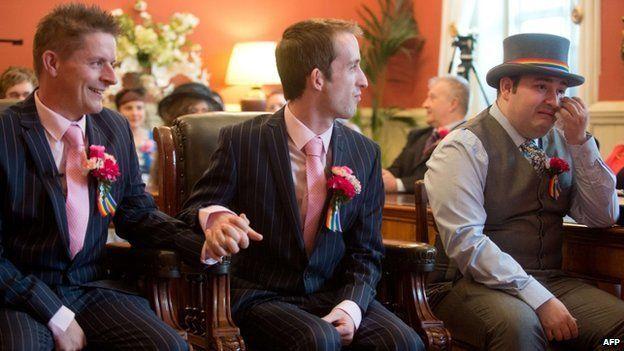 Phil Robathan and James Preston at their wedding