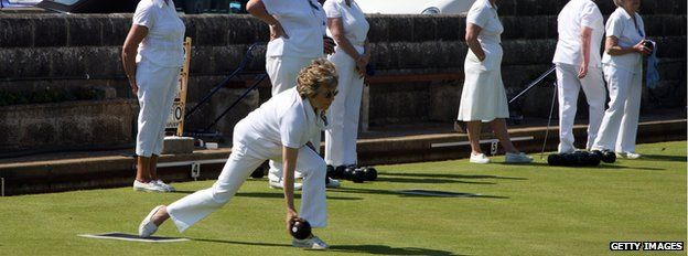 pensioners on bowling green