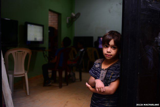 Child at Shatila refugee camp