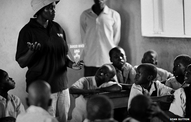 A Community Liaison Team working with children at Lelere village school, South Sudan 2013