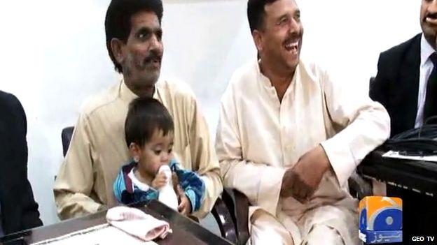 Infant in court in Pakistan
