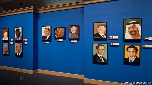 Paintings of world leaders by George W Bush