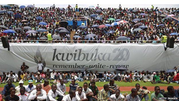 Crowds in the stadium