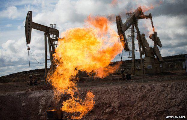 Oil flare in South Dakota