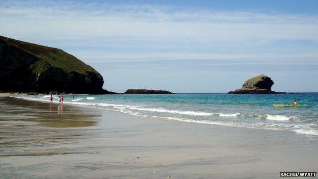 Portreath beach in Cornwall
