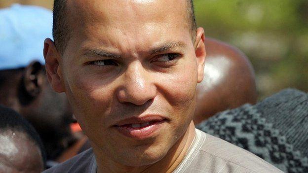 Karim Wade in Dakar on 8 March 2008