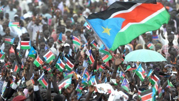 Crowds in Juba on the day South Sudan became independent - 9 July 2011