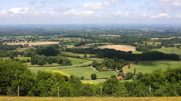 Rural area of England