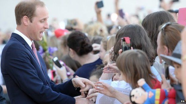 Prince William meets well-wishers in Canberra