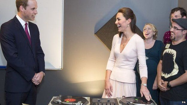 The Duchess of Cambridge tries her hand at DJ-ing