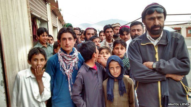Locals in a bazaar, Saraogha, South Waziristan, April 2014