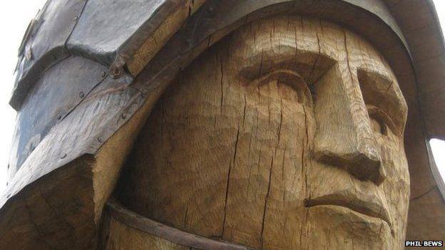 Horse sculpture in Tewkesbury