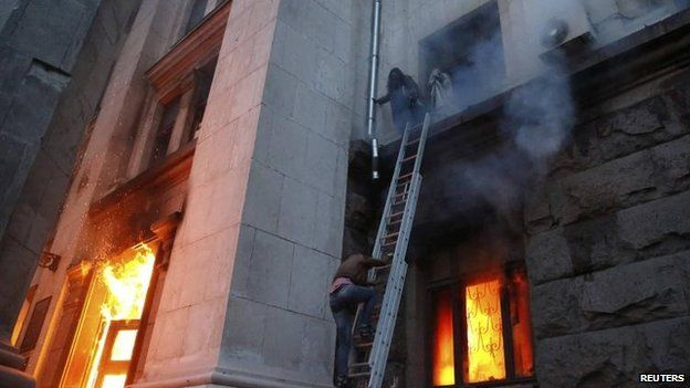 Rescue scene in Odessa, 2 May