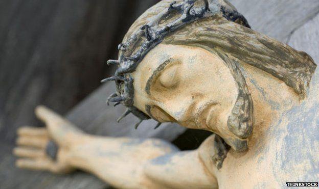 Christ on the Cross - statue