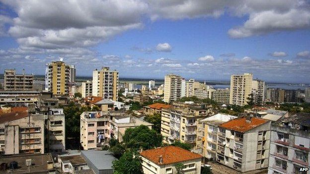 Rooftop view of Maputo, Mozambique (Archive shot)