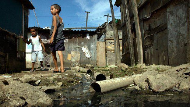 Children in the City of God slum in Rio