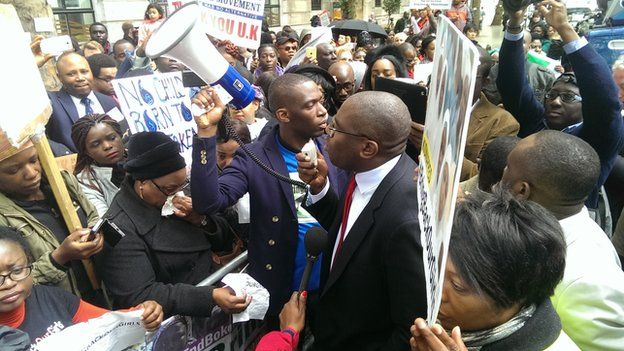MP for Tottenham David Lammy addresses the crowd