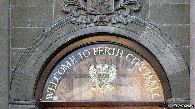 Perth city hall doorway